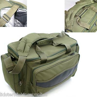 NGT Olive Green Carp Coarse Fishing Tackle Bag Holdall Quality Bag 909 Insulated