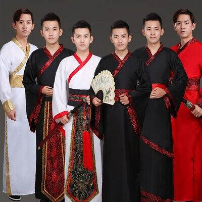 Chinese ancient man cosplay hanfu graduation clothes tang dynasty stage costume