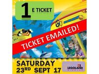 Legoland Ticket - SATURDAY 23rd September 17 - HAVE TICKET TODAY