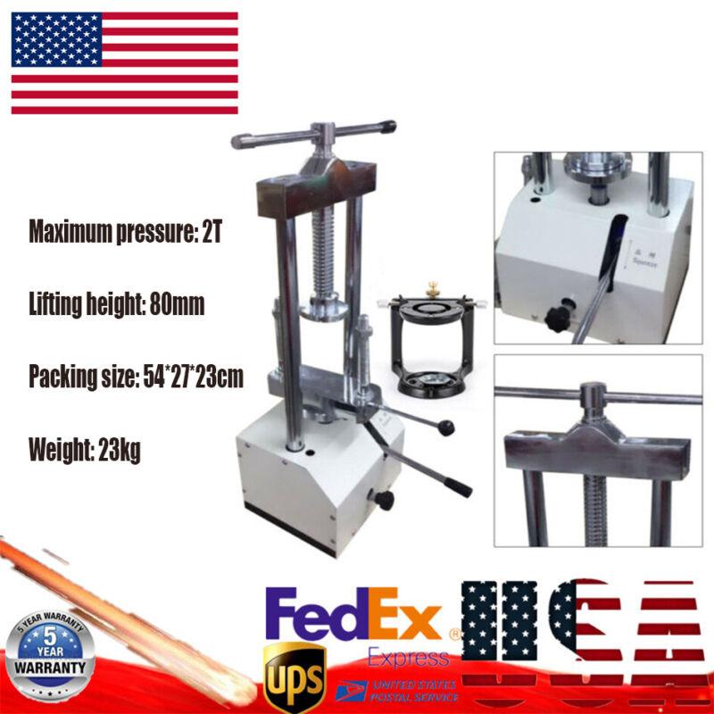 Dental Lab Hydraulic Press Flask Presser Polymerizer W/Magnetic Articulator 2T