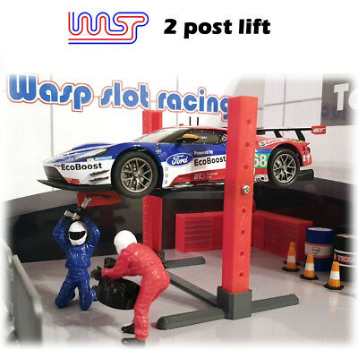 WASP 3D printed 2 post lift, pit, garage, ramp, Jack, track side, scenery, 1/32 Printed Track Jacke