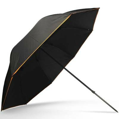 """50"""" Deluxe Black Brolly With Tilt Function Umbrella Carp Coarse Fishing Tackle"""