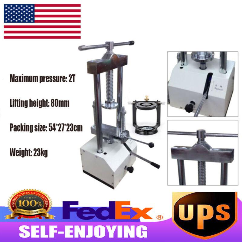 Dental Hydraulic Press Equipment Presser Dental Flask Pressure 2T+Articulator US