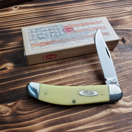 Case XX Sowbelly Yellow Synthetic Folding Pocket Knife 30115