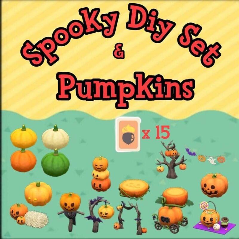 ACNH Spooky DIYS and Pumpkins