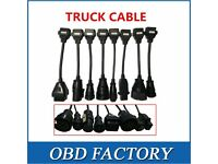 TRUCK DIAGNOSTIC CABLES SET OF 8 £40