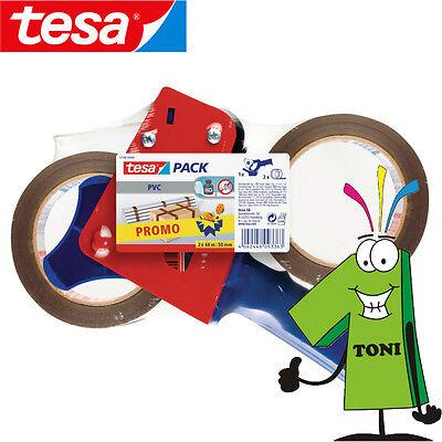 Tesa Paketbandabroller 57108 inkl. 2 Rollen Packband, PackbandabrollerTesapacker