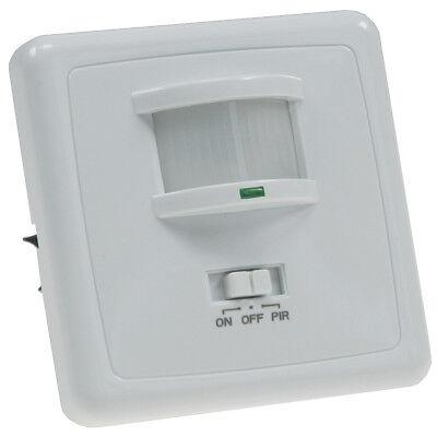 Unterputz PIR Bewegungsmelder 160  LED geeignet 3-Draht Technik weiß