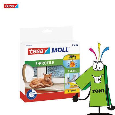 Tesa Moll Classic E Profile Dichtung 25m weiß Fensterdichtung Gummidichtung 3mm