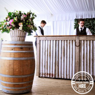Bargain Barrel Hire - Wine barrels from $25.00 for 72 hours...