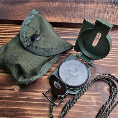Cammenga Olive Drab Aluminum Phosphorescent Lensatic Compass Hiking Gear 27