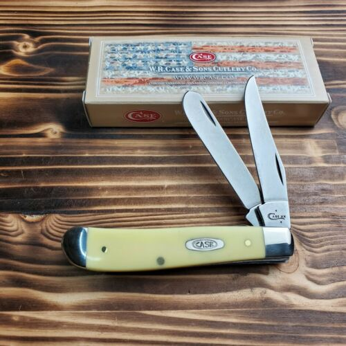 Case XX Yellow Synthetic Handle Mini Trapper Folding Pocket