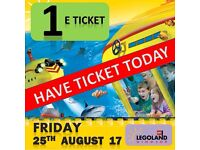1 X LEGOLAND Windsor Tickets FRIDAY 25th AUGUST 17 - 3 AVAILABLE !!!!