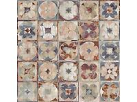 10m² Borgona vintage patterned floor & wall tiles 33x33cm (Delivery included in price)
