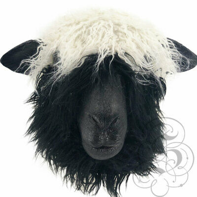 Realistic Latex Sheep with Fur Animal Party Halloween Prop Fun Photography Mask](Fun Halloween Party)