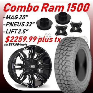 Combo- lift lit, mags, tires