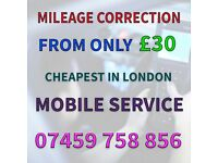 MILEAGE CORRECTION CHEAPEST £30 ODOMETER FIX SPEEDO ADJUSTMENT FIX MOBILE SERVICE