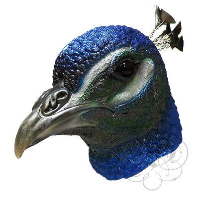 Neu! Latex Tier Realistische Pfau Vogel Cosplay Kostüm - Pfau Kostüm Maske
