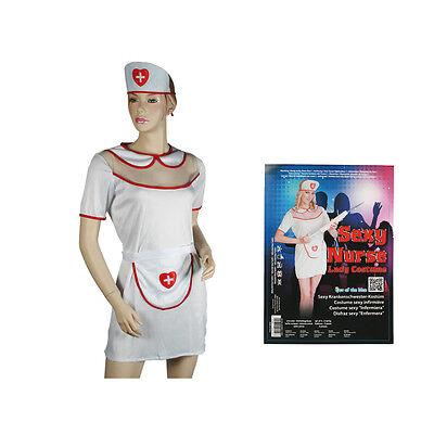 Kostüm Krankenschwester sexy nurse  3-teilig Einheitsgröße NEU & OVP (Sexy 3 Teiliges Kostüme)