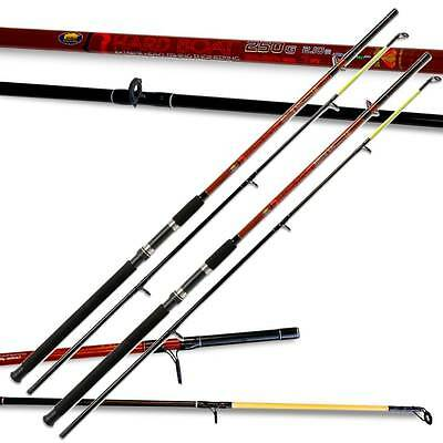 2 x Lineaeffe hard boat fishing rods 7ft 2pc 250g 20-30lbs heavy Sea Fishing (3)