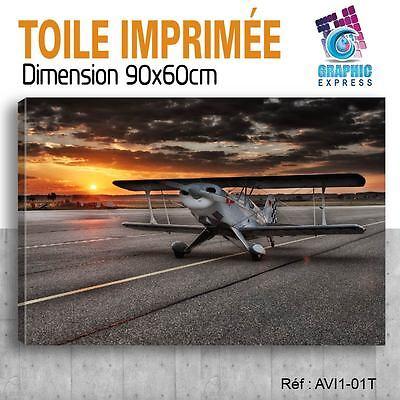 90x60cm -leinwand Gedruckt-Tabelle Poster Deco - Plane (Plane) - AVI1-01T ()