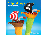 SHIP Yard cups Slush cup 12oz 14oz with Lid Straw 350ml Ship Lid Cup *TOY* USA EUROPE
