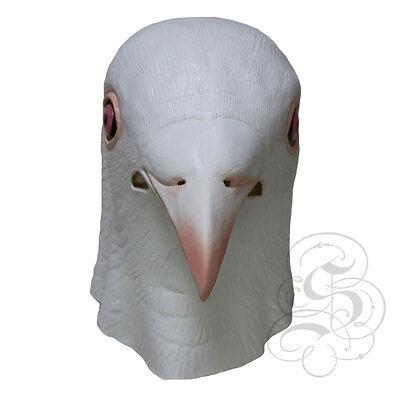 Latex Ganzer Kopf Tier Weiß Taube Vogel Hochwertig Kostüm Party (Taube Kostüm)