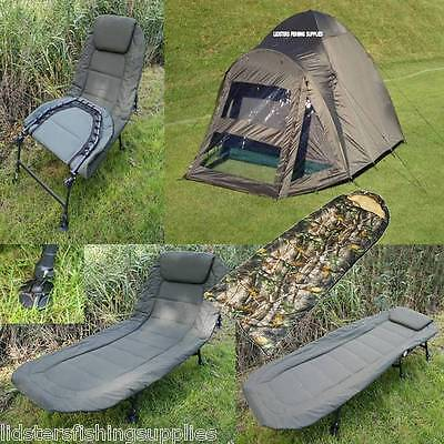 2 Man 2 Skin Carp Fishing Bivvy NGT Deluxe BedChair + Pillow + Sleeping Bag