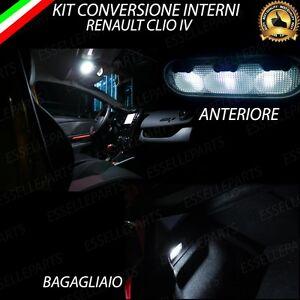 Kit full led interni renault clio 3 plafoniera luce for Luci led interni