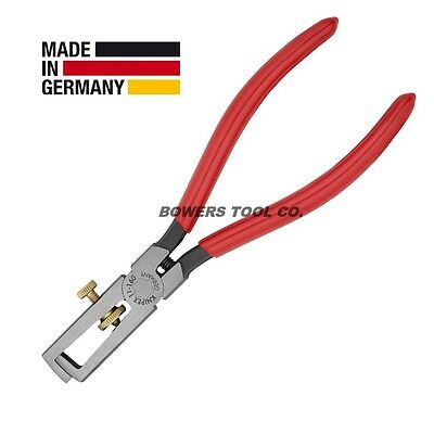 Knipex End-Type Adjustable Wire Stripper 1101160 with Return Spring up to 13/64
