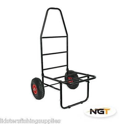 New NGT Classic Folding Fishing Trolley Carp Coarse Match Folds Flat Twin Wheel