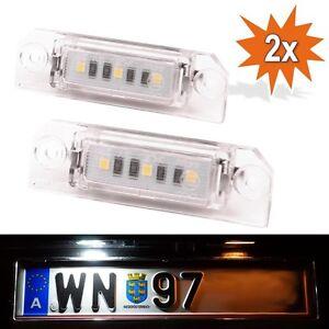 LED Kennzeichenbeleuchtung VW Golf 4 5 6 7 Passat CC Limo Polo Lupo Beetle WP3
