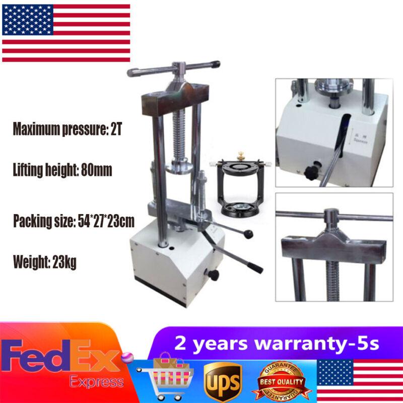 Dental Laboratory Hydraulic Press Flask Presser 2T Polymerizer Articulator 80mm