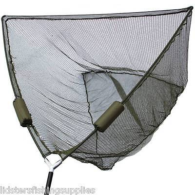 """50"""" Inch Large Carp Pike Fishing Landing Net With dual 2 Net Floats NGT Tackle"""