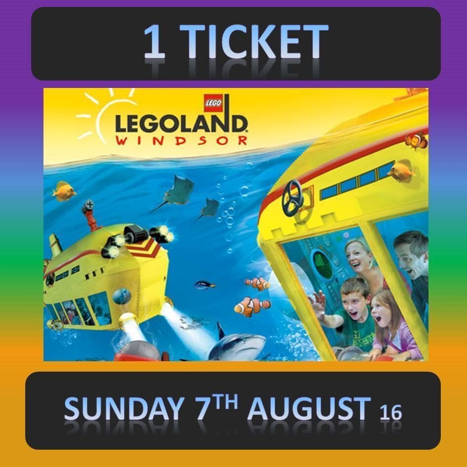 legoland windsor 1 ticket sunday 7th august 7 8 16 upto 6 tickets available lego land in. Black Bedroom Furniture Sets. Home Design Ideas