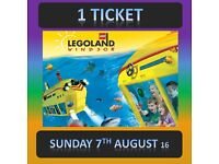 LEGOLAND Windsor 1 TICKET - SUNDAY 7th AUGUST 7/8/16 - UPTO 6 Tickets Available - lego land