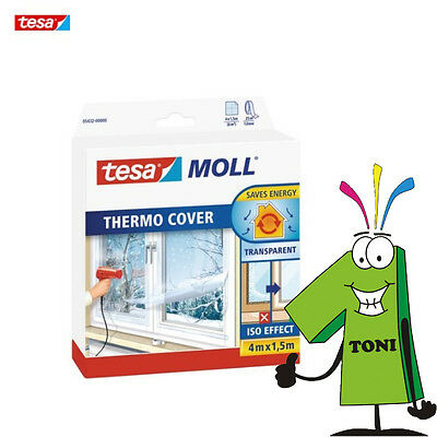Tesa Thermo Cover 4m x 1,5m Tesa Moll Thermocover Isolierung Transparent Neu
