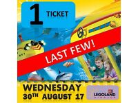 1 X LEGOLAND Windsor Tickets WEDNESDAY 30th AUGUST 17 - LAST ONE