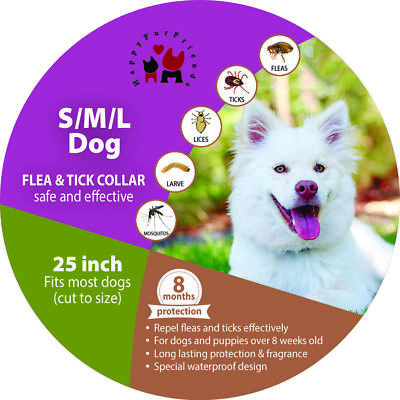 2x Flea Tick Collar For all Dogs Prevents all Pests For 8 Months Best (Best Flea Collars For Dogs)