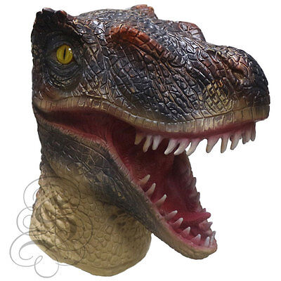 NEW!Latex Velociraptor Head Theropoda Dinosaur Reptile Jurassic World Party Mask