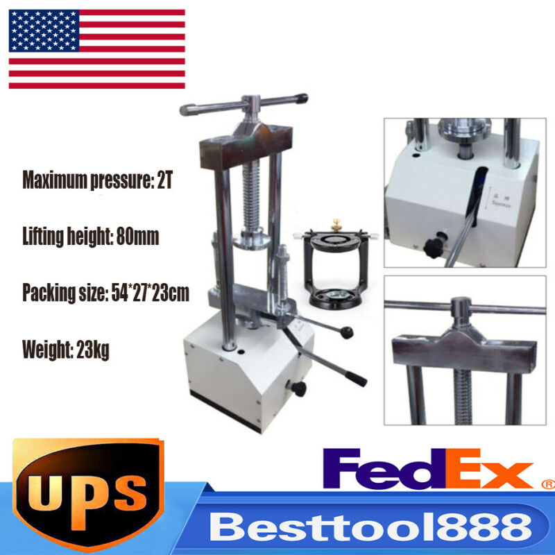 Dental Laboratory Hydraulic Press Presser Dental Flask Pressure Lifting 2T 80mm