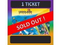 LEGOLAND 1 TICKET - SUNDAY 4th SEPTEMBER ***** SOLD OUT !! ***** 4/9/16 Windsor