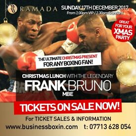 Christmas Lunch with boxing legend FRANK BRUNO MBE