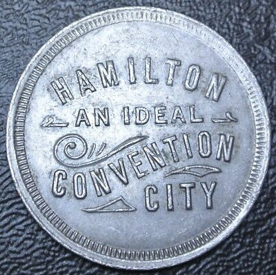 Vintage c. 1914 HAMILTON An Ideal Convention City TOKEN - Royal Connaught - RARE