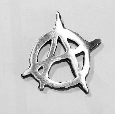 Anarchy Pin Badge in Fine English Pewter, British Made  (ib)