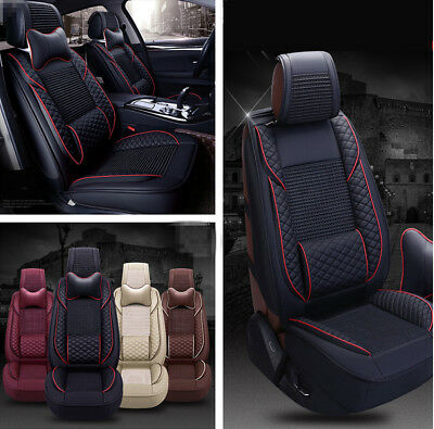 1 Set Car Seat Covers Black+Red Color For 5-Seat Auto Vechile Seats Accessory