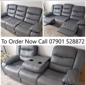 Huge bonded leather recliner sofa sale now on ! Christmas sale now on !