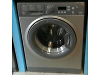 g262 graphite hotpoint 7kg 1400spin washing machine come with warranty can be delivered or collected