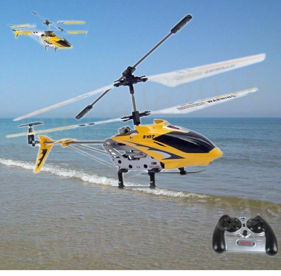 RC Heli ferngesteuerter Hubschrauber 3-Ch. GYRO SYMA S107G gelb + Akku Ladegerät
