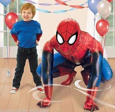 Marvel Spider Man 3-D AIR WALKER Foil Balloon Birthday Party Decoration AWK - Balloon Spider